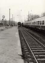 dmv-sonderfahrt/127726/rangierfahrt-e04-in-borna-dmv-sonderzug-um Rangierfahrt E04 in Borna, DMV-Sonderzug um 1986