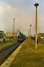 Leipzig-Doblen-Nossen/79013/dampf-in-grossbothen--dmv-sonderzug-nach Dampf in Großbothen . DMV-Sonderzug nach Nossen, DR vor 1989