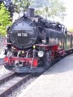 bhf-zittau-schmalsp/113020/99-735-im-schmalspurbahnhof-zittau-um 99 735 im Schmalspurbahnhof Zittau, um 2005