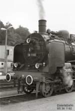 Dampfsonderfahrten/80075/br-38-um-1984-unterwegs-auf Br 38 um 1984 unterwegs auf der Elstertalbahn