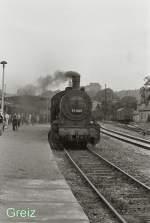 Dampfsonderfahrten/80108/br-57-dampft-in-greiz-1984 BR 57 dampft in Greiz, 1984
