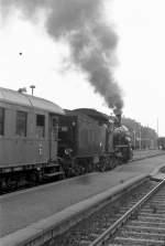 Dampfsonderfahrten/80150/dmv-sonderzug-in-plauen-unterer-bahnhof-1984 DMV-Sonderzug in Plauen unterer Bahnhof, 1984