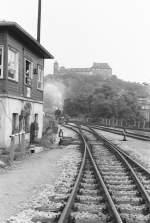 Dampfsonderfahrten/80284/einfahrt-in-den-bahnhof-greiz-ii Einfahrt in den Bahnhof Greiz II (DR 1984)
